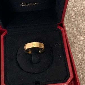 Authentic Cartier love yellow gold ring size 58